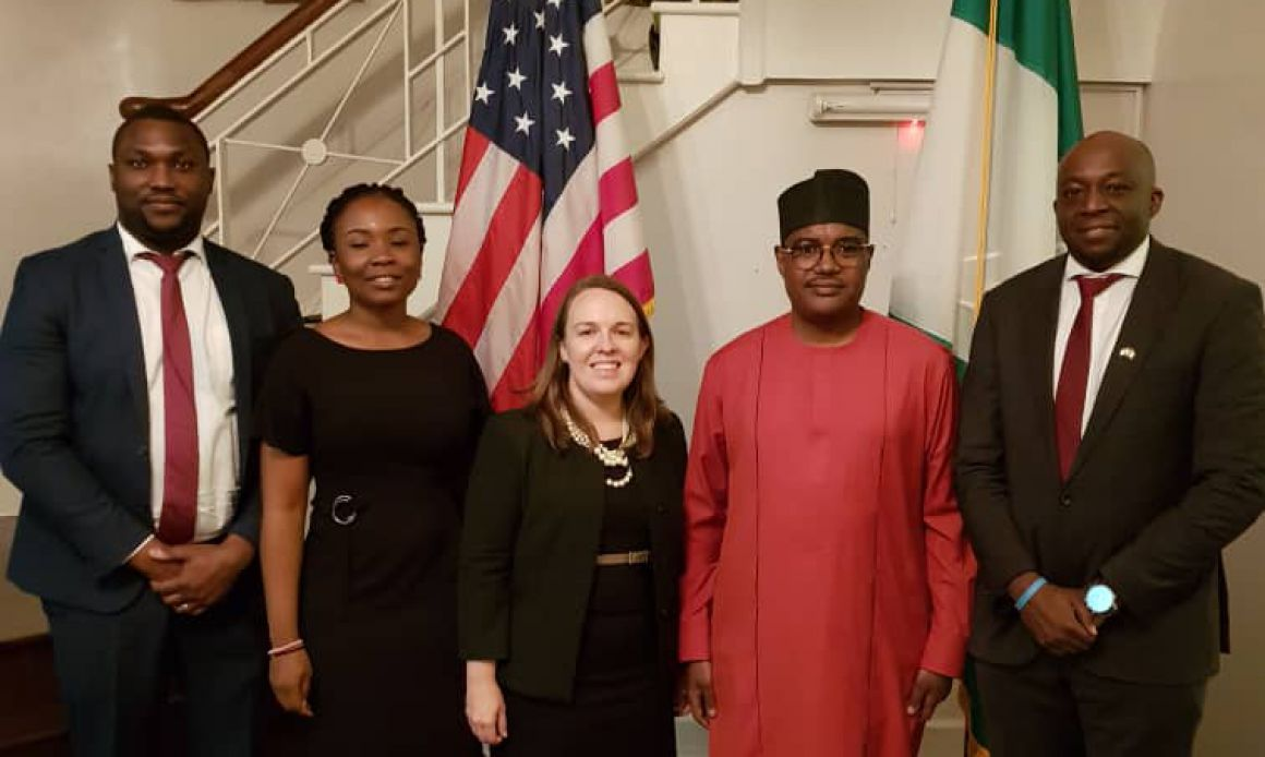 From left- Otuya Okecha( Chief Strategy Officer, BCN),Ibrahim Dikko (Chief Executive Officer, BCN), Shannon Roe (Country Manager, Sub-Saharan Africa, USTDA), Taba Brown (TA- CEO, BCN) and Josh Egba (Country Representative West Africa,USTDA).